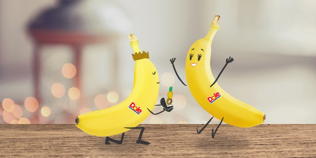 "The first of Dole's ""congratulatory banana memes"" hit social media on Monday night."