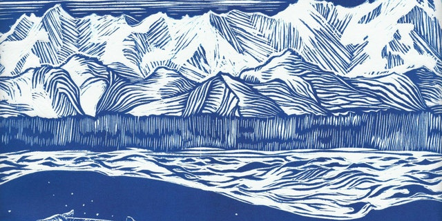 (Linocut print art by Alexandra Boersma)
