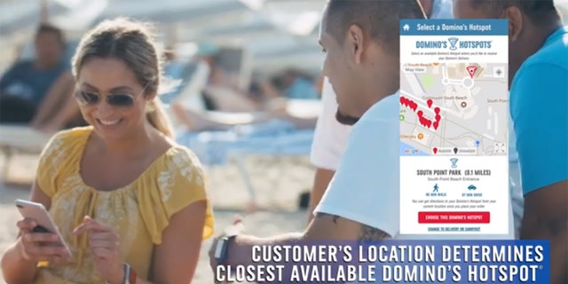 """Customers who order via the chain's online platforms are now given the option of getting their pizza delivered to a """"Hotspot,"""" or a pre-determined area where a driver will meet them with their pizzas."""