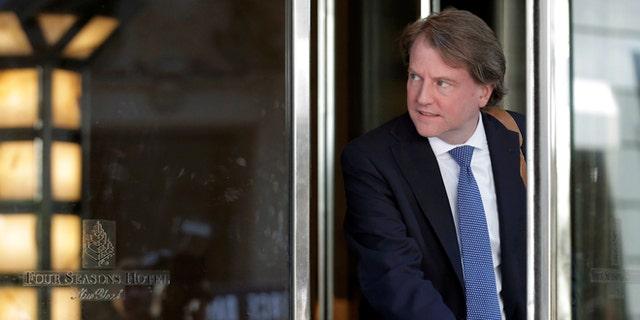 White House Counsel Don McGahn did not support firing Robert Mueller.