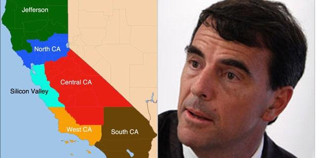 Tim Draper previously proposed splitting California into six states.