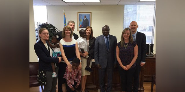 New DRC Ambassador to the U.S. Francois Balumuene met with several families last week regarding a possible lift of the African nation's moratorium on international adoption.