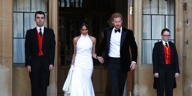 Meghan Markle Prince Harry Step Out For Evening Reception With