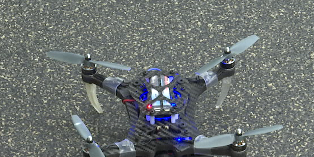 Drones can range in size from 20 grams to two kilograms, each quadrotor is equipped with a Qualcomm Snapdragon Flight development board. The board includes an onboard quad-core computer,  a downward facing VGA camera with 160◦ field of view, a VGA stereo camera pair, and a 4K video camera.