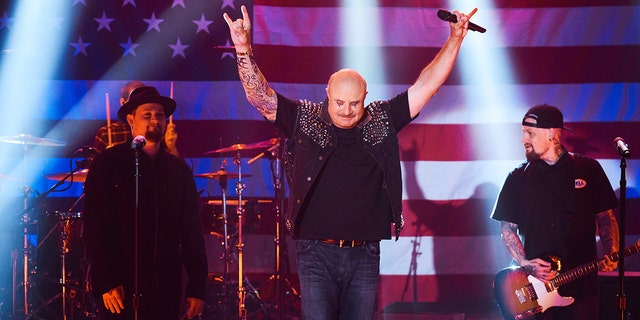 Dr. Phil performed on stage with Good Charlotte.