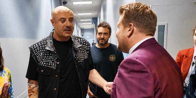 Dr. Phil in full rock star gear on 'The Late Late Show with James Corden.'
