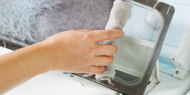 Removing lint from the dryer's filter and ducts will keep your machine running more efficiently, too.