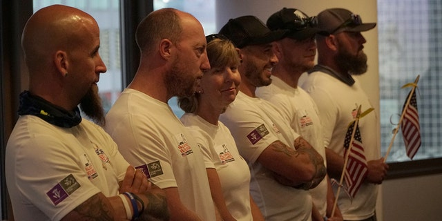 The six veterans – three from the United States and three from the United Kingdom - walked 1,000 miles across the U.S. to raise awareness for mental health issues plaguing combat veterans.
