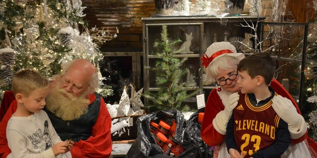 Children were able to visit with Santa and Mrs. Claus as part of the event.
