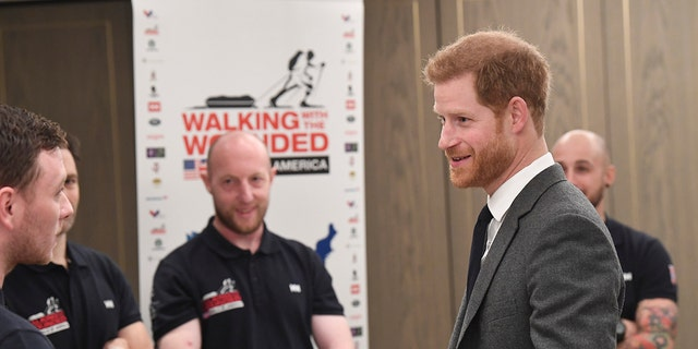 The veterans met with Prince Harry in London several months before their journey across the United States.