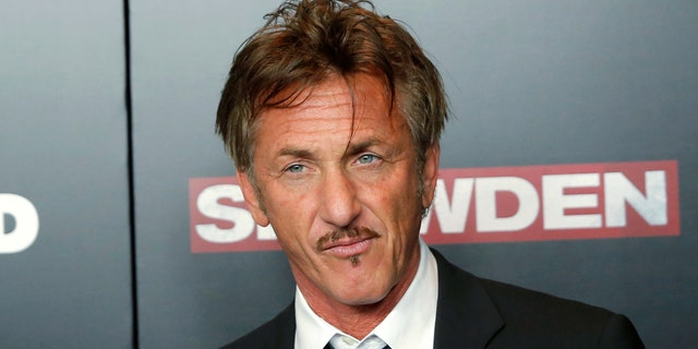 "Actor Sean Penn attends the premiere of the film ""Snowden"""