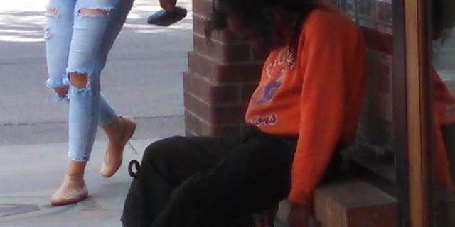A homeless man in Colorado.