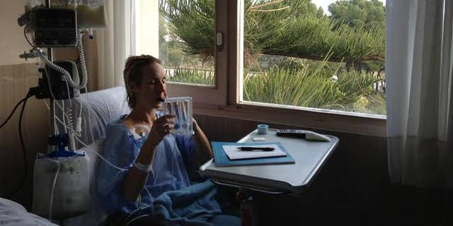 Caryn after surgery in Spain