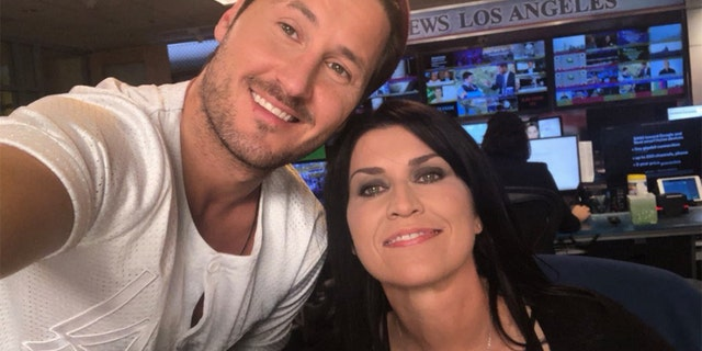 "Nancy McKeon, right, and Val Chmerkovskiy will compete on Season 27 of ""DWTS."""