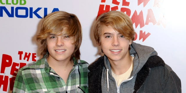 Actors Cole Sprouse and Dylan Sprouse are pictured together in 2010.