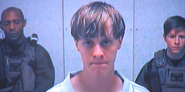 Dylann Roof appears via video before a judge in Charleston, S.C., on Friday, June 19, 2015.