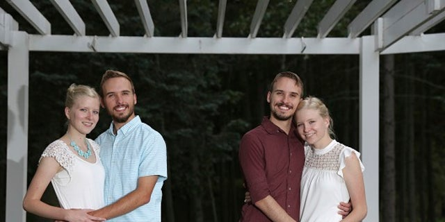 From left, Krissie Bevier, Zack Lewan, Nicholas Lewan and Kassie Bevier pose for a photo.