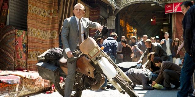 "Daniel Craig stars as James Bond in ""Skyfall."""