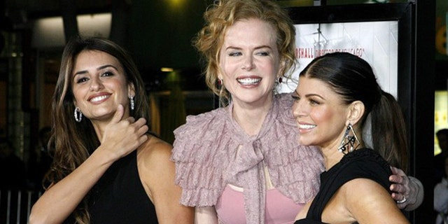 """Dec. 9: Actresses (L-R) Penelope Cruz, Nicole Kidman and Fergie, stars of director Rob Marshall's new film """"Nine"""", pose at a special screening of the film in Los Angeles."""
