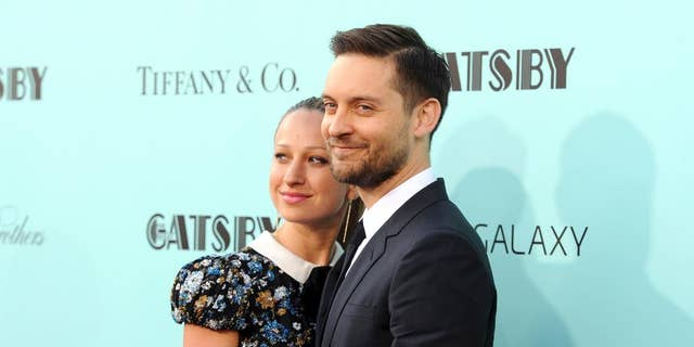 A May 2013 image of Jennifer Meyer and Tobey Maguire.