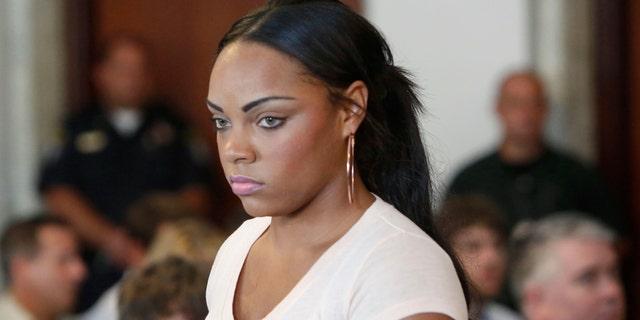 Shayanna Jenkins, fiancee of former New England Patriots NFL football tight end Aaron Hernandez.