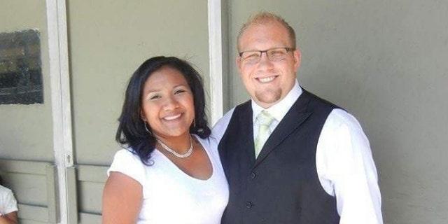 Josh Holt (R) and his wife Thasmara Belen Caleño Candelo (L).