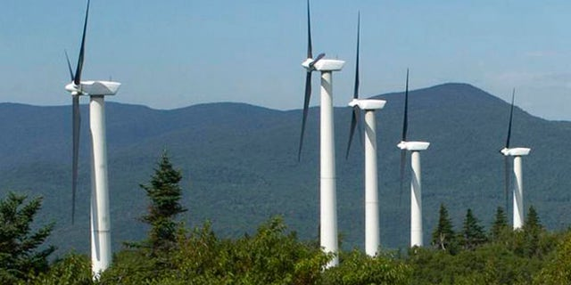 FILE: Undated: Wind turbines in Vermont.