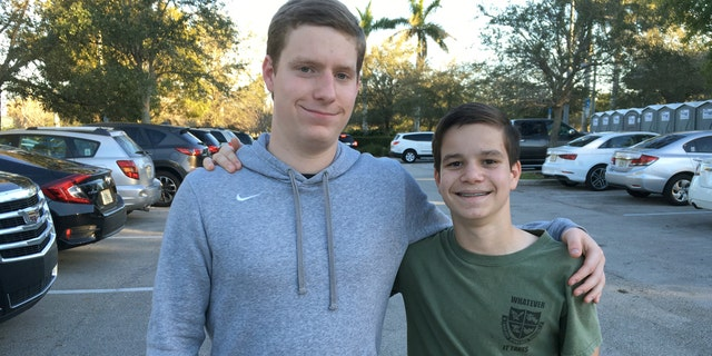 Brothers Jack, left, and James Ciaramello survived the Parkland, Fla. massacre last week. Jack was in the same Junior Reserve Officer Training Corps company as Nikolas Cruz, who is charged with gunning down 17 people at Marjory Stoneman Douglas High School on Valentine's Day.