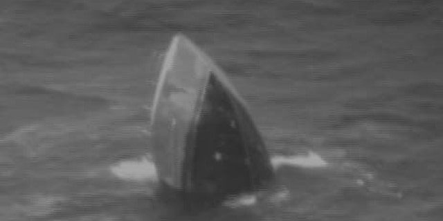 A Coast Guard aircrew located the Princess Hawaii mostly submerged with only the stern above the waterline hundreds of miles off Hawaii on Sunday.