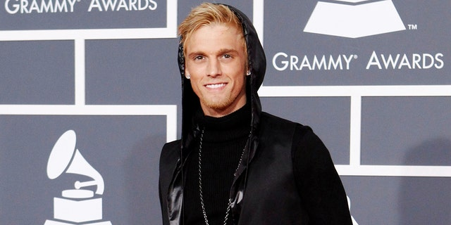 FILE PHOTO: Singer Aaron Carter poses on the red carpet at the 52nd annual Grammy Awards in Los Angeles January 31, 2010. REUTERS/Mario Anzuoni/File Photo - RTX3BMEE