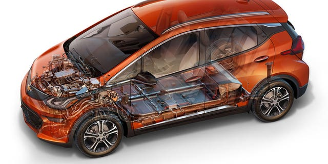 Cutaway of Chevrolet Bolt