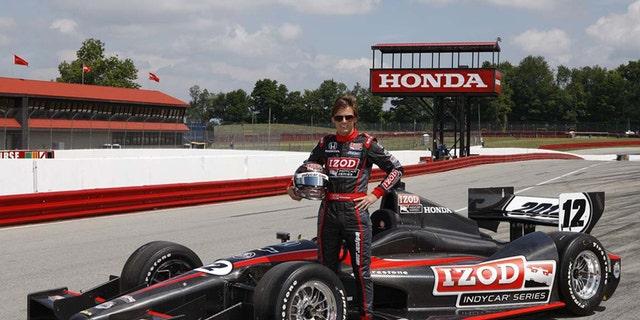 Dan Wheldon with the 2012 Dallara IndyCar
