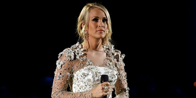 Carrie Underwood said she received 40 to 50 stitches on her face after the fall outside her Nashville home in November.