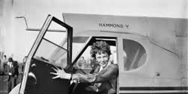 Aviator Amelia Earhart (Credit: The Library of Congress)