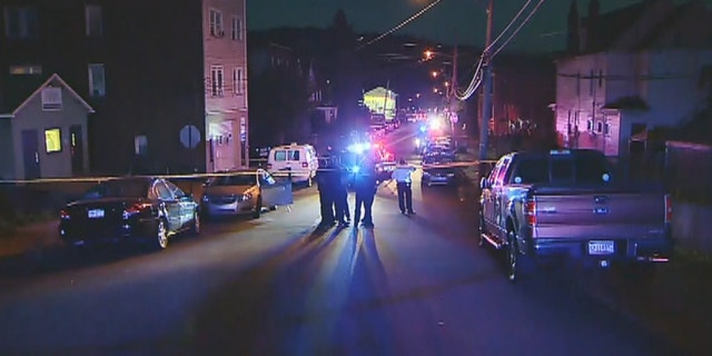 A 17-year-old boy was shot dead by police in East Pittsburgh while attempting to flee a traffic stop; it is thought he was linked to another shooting earlier Tuesday
