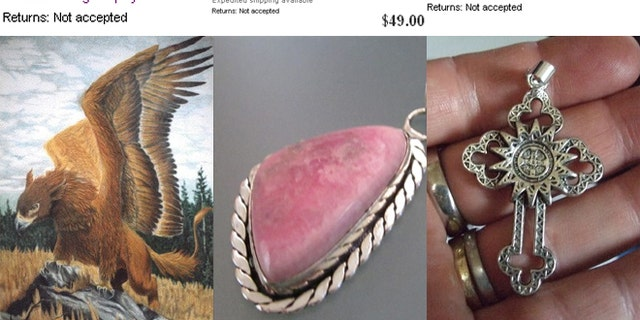 Some items available for sale on the eBay Metaphysical page.