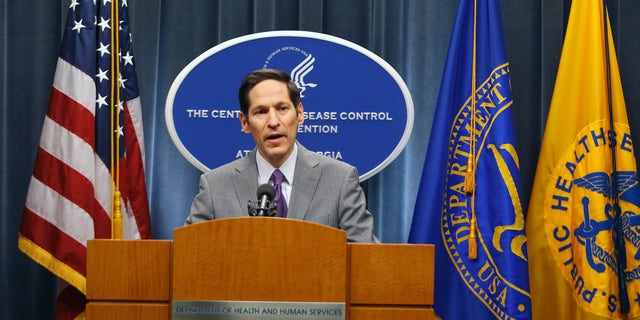 Centers for Disease Control and Prevention (CDC) Director, Dr. Thomas Frieden, speaks at the CDC headquarters in Atlanta, Georgia September 30, 2014. REUTERS/Tami Chappell