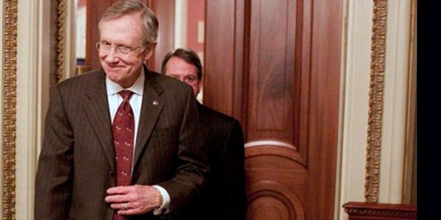 File: Senate Majority Leader Harry Reid, D-Nev., leaves a Democratic caucus on Capitol Hill in Washington. (AP)