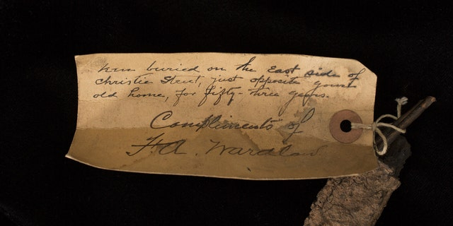 The note from Edison's aide F.A. Wardlaw (The Raab Collection).