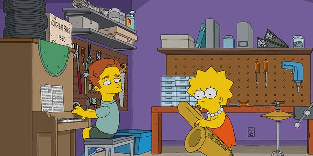 """When the Simpsons go to a STEM conference, Lisa falls for a crooning jazz pianist named Brendan (guest star Ed Sheeran, Pictured). Meanwhile, Bart discovers that he has an affinity for chemistry in the all-new """"Haw-Haw Land"""" episode of THE SIMPSONS airing Sunday, Jan. 7, (8:00-8:30 PM ET/PT). THE SIMPSONS ™ and © 2017 TCFFC ALL RIGHTS RESERVED."""