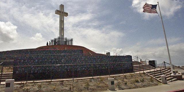 The Mount Soledad Veterans Memorial is seen in La Jolla, Calif., in an undated photo. (Associated Press)