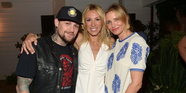 Musician Benji Madden, author Vicky Vlachonis and actress Cameron Diaz.
