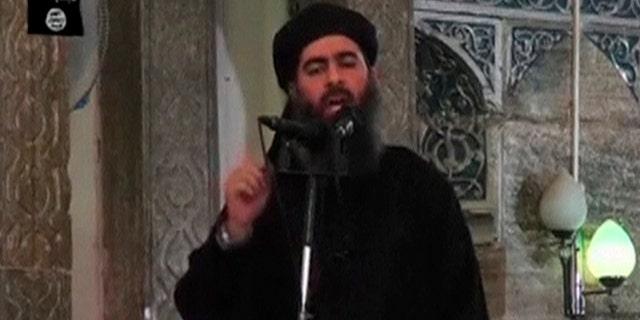 Abu Bakr al-Baghdadi in an undated video.