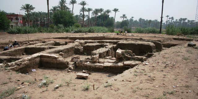 The building was once part of Memphis, Egypt's ancient capital.