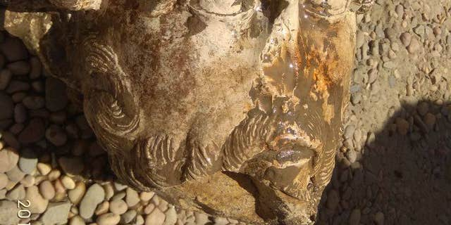The extremely rare marble head of Roman Emperor Marcus Aurelius (Egyptian Ministry of Antiquities)