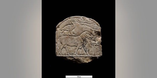 The stone panel discovered in Luxor (Egyptian Ministry of Antiquities)