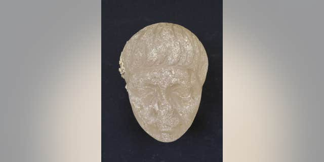 "The ""royal head"" carved from crystal that may depict the famous Roman general Marcus Antonius, or Marc Antony (Egyptian Ministry of Antiquities)"