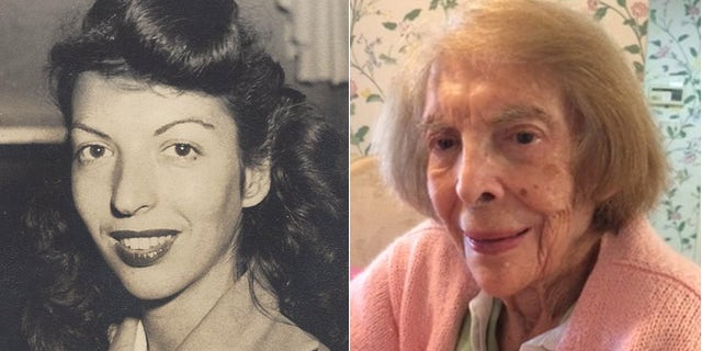 Then and now: Elaine Fischel, (l.), as a young legal secretary at the Tokyo Trials; and (r.) today in her LA home.