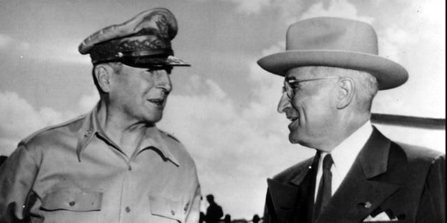The Tokyo Trials were ordered by Gen. Douglas MacArthur, (l.), and President Truman, (r.).