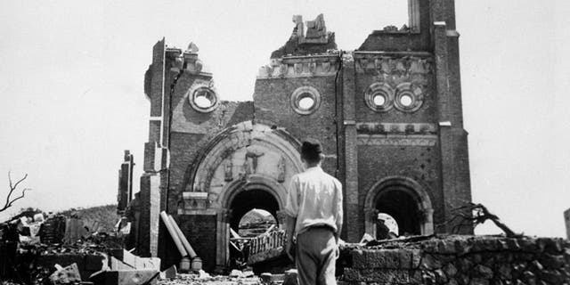 Much of Tokyo, including Nagasaki, seen here in a Sept. 13, 1945, photo, was still in ruins when Fischel arrived.